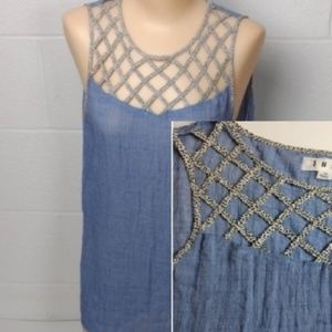 THML Lattice Front Sleeveless Blouse